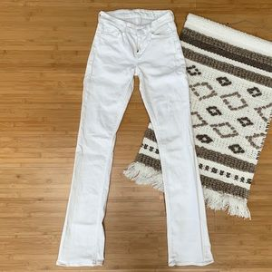 7 For All Mankind White Flare Jeana